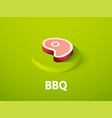 bbq isometric icon isolated on color background vector image