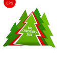 big christmas sale tree vector image vector image