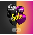 Black Friday and Cyber Monday Sale concept vector image vector image