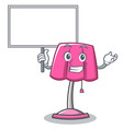 bring board furniture lamp character cartoon vector image vector image