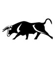 bull black silhouette realistic icon muscular vector image vector image
