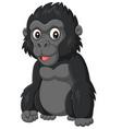 cartoon baby gorilla on white background