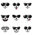 cat faces with different emotions and sunglasses vector image vector image