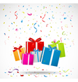 Celebration background with colorful gift box vector image vector image