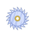 Circular saw blade icon cartoon style