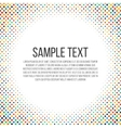 Colorful dots frame vector image vector image