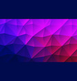 colorful purple trendy low poly backdrop design vector image