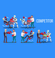 competitor of work vacancy position set vector image vector image