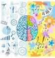 Creative Brain Composition vector image