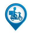 delivery motorcycle service icon vector image vector image
