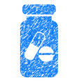 drugs phial grunge icon vector image vector image