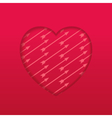 Engraved heart with pattern arrow vector image