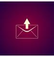 envelope mail symbol Flat design style vector image vector image