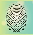 fingerprint on a blurred background vector image vector image