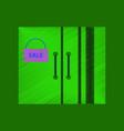 flat shading style icon wardrobe sale black friday vector image vector image