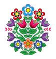 floral design polish folk pattern vector image vector image