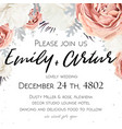 floral wedding invitation invite save date vector image vector image
