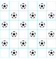 Football Ball Blue Grid White Background vector image vector image