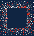 frame - cute little hearts background vector image vector image