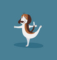 funny beagle doing ballet happy dancing puppy dog vector image