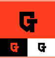 g t monogram shield gt logo vector image vector image