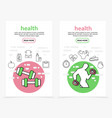 health vertical banners vector image vector image