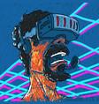 helmet of virtual reality vector image vector image