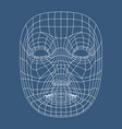 human face mesh 3d modeling recognition head scan vector image vector image