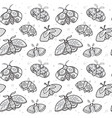 ink seamless pattern with hand drawn moths vector image vector image