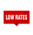 low rates red tag vector image vector image