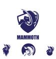mammoth symbol bundle set vector image vector image