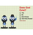 Market research does God exist vector image vector image