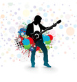men play a guitar vector image vector image