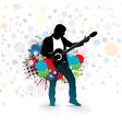 men play a guitar vector image vector image