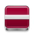 Metal icon of Latvia vector image vector image