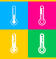 Meteo diagnostic technology thermometer sign four