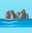 nature scene with mountains and ocean vector image vector image