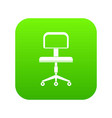 office a chair with wheels icon digital green vector image vector image
