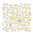 Oktoberfest Lettering Set vector image