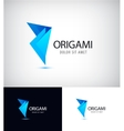 Origami fold paper link connect group abstract vector image vector image