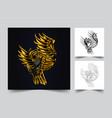 owl ornamental vector image vector image
