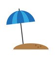 parasol on sand icon image vector image vector image