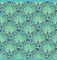 peacock art deco vector image vector image