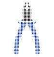 Pliers halftone icon