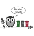 Recycle message vector image vector image