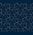 seamless golden flower pattern on blue background vector image vector image