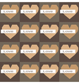 seamless origami hearts on dark background vector image vector image
