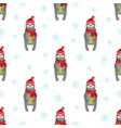 seamless pattern sloth with gifts vector image vector image