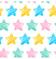 seamless pattern with colorful doodle stars vector image vector image