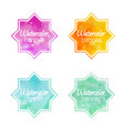 set of banners with star shape with a watercolor vector image vector image